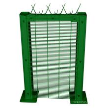 Usine de clôture de fer enduite de PVC 358