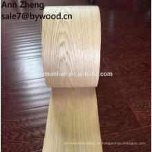 Chapa de roble rojo decorativo de 0,5 mm para muebles.