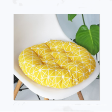 wholesale round cotton and linen style chair cushion for office car home