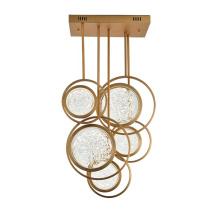 Modern home decorative lighting glass chandelier ceiling lamps for livingroom