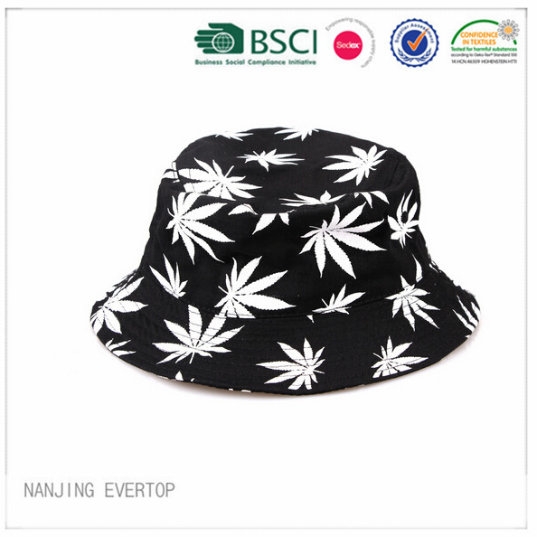 Popular Cotton Coconut Tree Print Bucket Hat