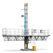Single Tower Mast Climbing Work Platform