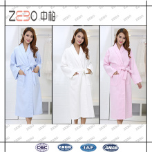 Vente en gros 100% coton Shawl Collar Style Waffle Fabric Cheap Bathrobe