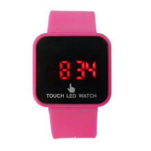 Promotion Pink Silicone Led Watch Digital Touch Screen Watches For Girl