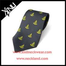 Private Label Custom Logo Silk Masonic Tie