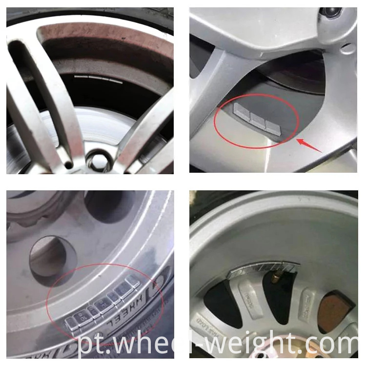 adhesive weight used