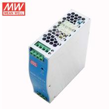 MEAN WELL NDR-120-24 Caixa de alimentação slim industrial para fonte de alimentação de trilho DIN