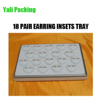 18 Slot Heart Shaped Faux Leather Earring Holder Tray (TY-18ES-WSL)