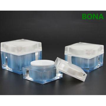 Square Shape Cream acrylic Jar