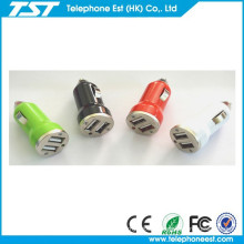 mini car charger,portable usb car charger,for mobile phone dual usb car charger