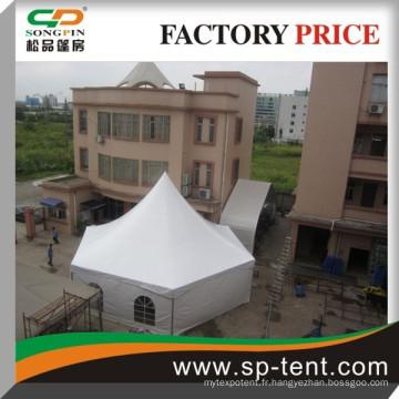 Tente de pagode hexagonale à l'étalage structurel en aluminium pour fête de la cour arrière 6x12m
