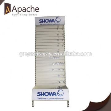 ISO9001:2000 train floating shoes display stands