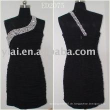 ED2075 Kurzes wulstiges Blace-Abschlussball-Kleid