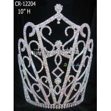 Venta por mayor estilo especial Rhinestone Corona tiara del desfile