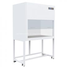 Armário vertical do fluxo laminar do laboratório com exposição de diodo emissor de luz
