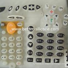 Kundenspezifische Silikonkautschuk-Tastatur mit Epoxy-Oberflächenbehandlung