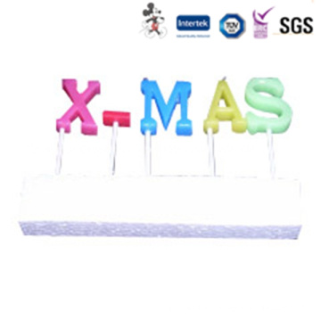 New Style Personalized Eco-Friendly Raw Material Birthday Letter Candle