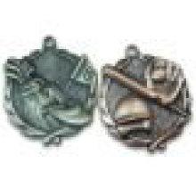 3D Antique Design Zink Legierung Casting Blank Insert Medal Bulk Verkauf / Factory Supply