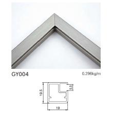 Armario de cocina de aluminio de aluminio cepillado con borde