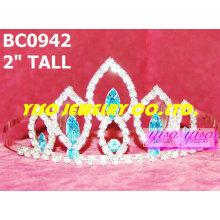 Coroas de cristal simples e tiaras