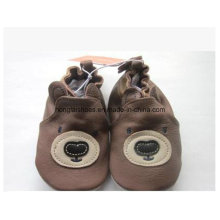 Brown 01: Sheepskin Baby Shoes