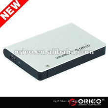 "ORICO 2598US3 2.5"" external case for SATA HDD, aluminum case, USB3.0 hard disk enclosure"