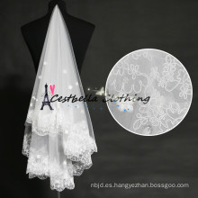 Nupcial boda velo accesorios de la boda vintage encaje 3 capas de velo