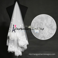Bridal Wedding Veil Wedding Accessories Vintage Lace 3 layers Veil
