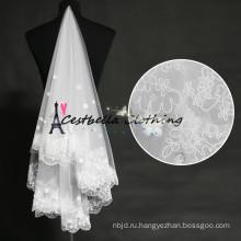 Для новобрачных Свадебная фата свадебные аксессуары старинные кружева 3 слоя фата