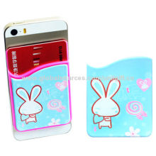 New removable credit card holder, silicone mobile phone walletNew