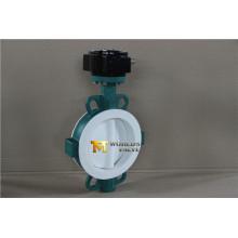 Tipo completo válvula de bolacha da bolacha do revestimento de PFA com o Wras do ISO do Ce aprovado (CBF04-TA01)