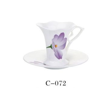 Taza de café de alta calidad de la flor de cerámica