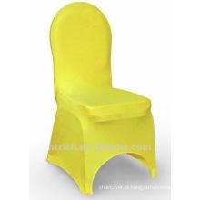 tampa da cadeira banquete, tampa da cadeira de lycra, CTS810 amarela, apto para todas as cadeiras