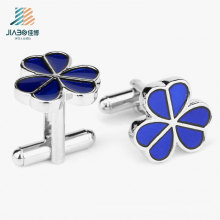 Top Sell High Quality Enamel Custom Flower Cufflink for Promotional Gift