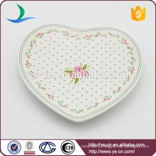 Loving Heart Decal Ceramic Dish For Decoration