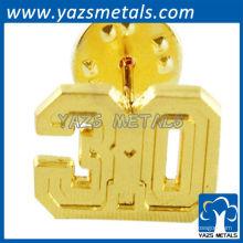 Emblemas personalizados da marca 3D de ouro