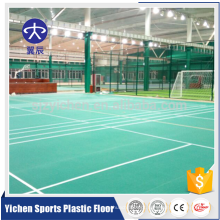 Padrão de areia de qualidade profissional portátil badminton tapete de chão de pvc