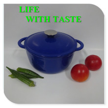 Blue Cast Iron Casserole
