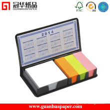 Neon Paper Sticky Note Pad with PU Holder