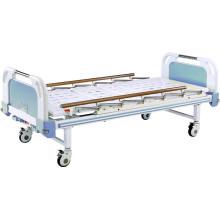 Cama de hospital movible de dos funciones Full-Fowler con placa de tubo plano