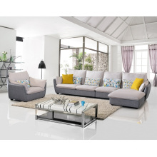 Popular 3 Seater Fabric Corner Sofa Set Living Room Furniture