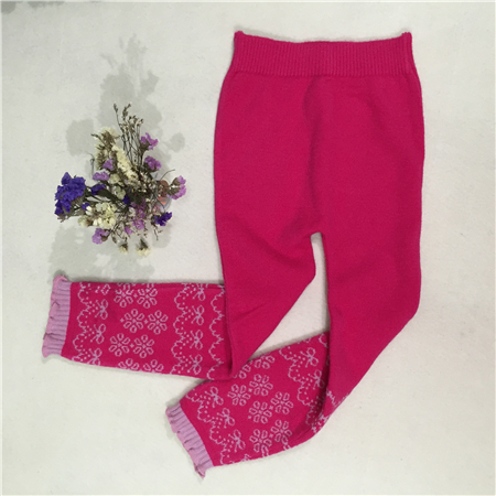 jacquard elastic long pants
