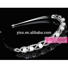 Cristal cristal atacado e pérola jóias cabelo moda