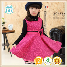 european pinafore kids clothes 2017 new year celebration party winter cotton&nylon sleeveless dress Xmas Guangzhou Wholesaler