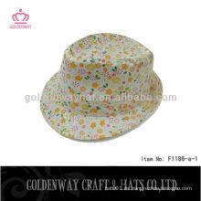 Chicas Fedora sombreros patrón floral F1186-a