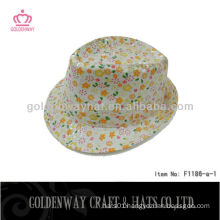 Girls Fedora Hats Floral Pattern F1186-a