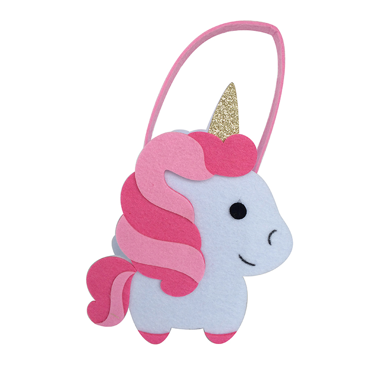 Unicorn mini felt candy gift bag