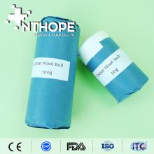 rollo de algodón absorbente médico con papel