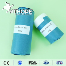medical absorbent cotton wool roll with paper