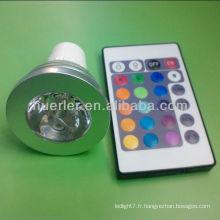 Haute qualité, bon prix, 2 ans de garantie, une seule puce, gu10, lumières led, couleur variable